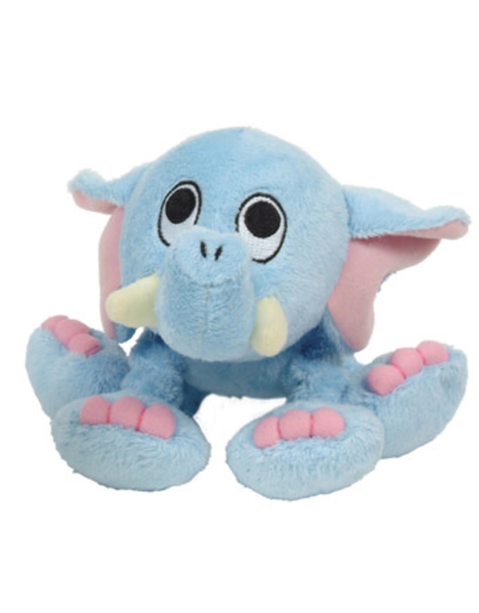 DogIt Blue Elephant Plush Dog Toy with Squeaker