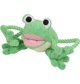 DogIt Green Frog Plush Dog Toy with Squeaker
