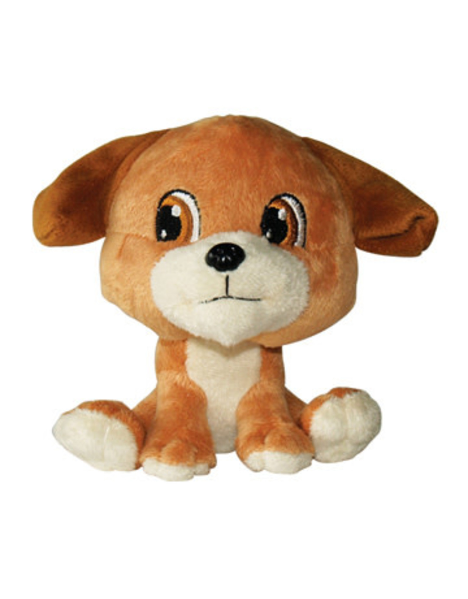 DogIt Brown Dog Big Heads Plush Dog Toy