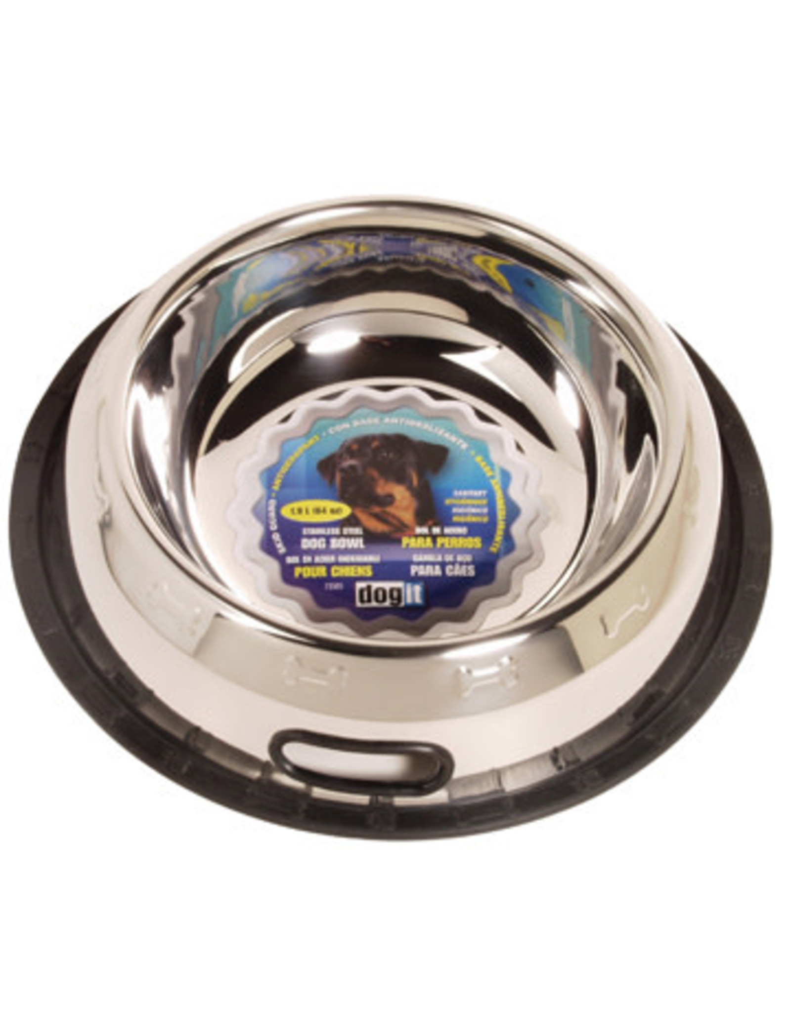DogIt Stainless Steel Non Spill Dog Dish XL 1.9L