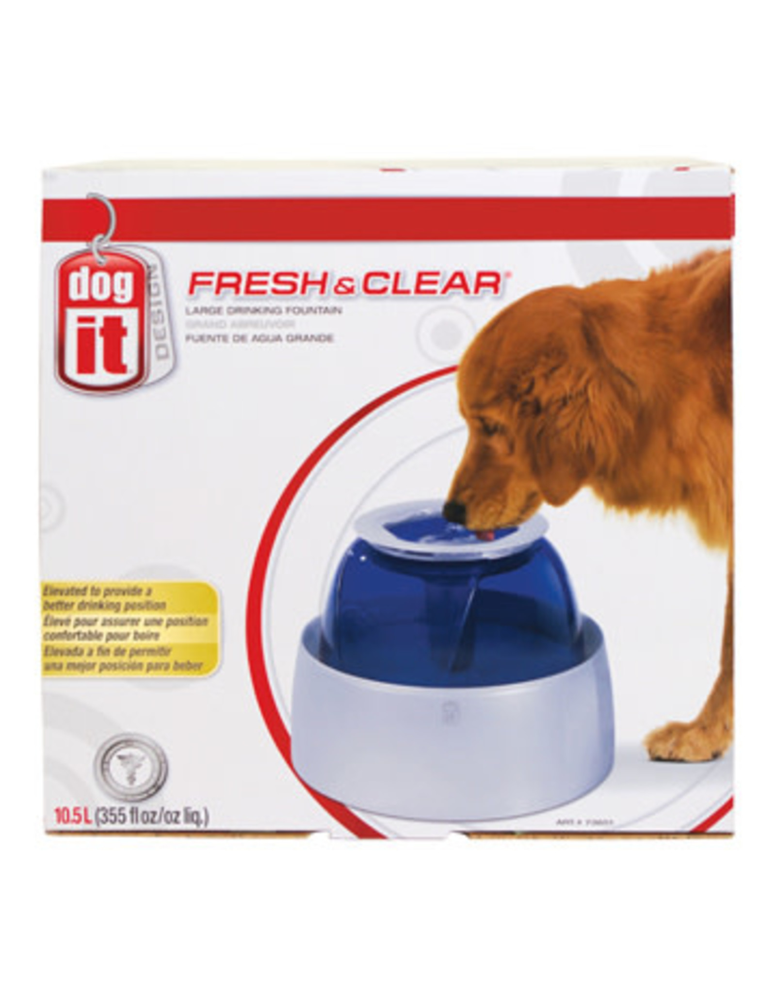 DogIt Fresh & Clear Large Dog Drinking Fountain 10.5L