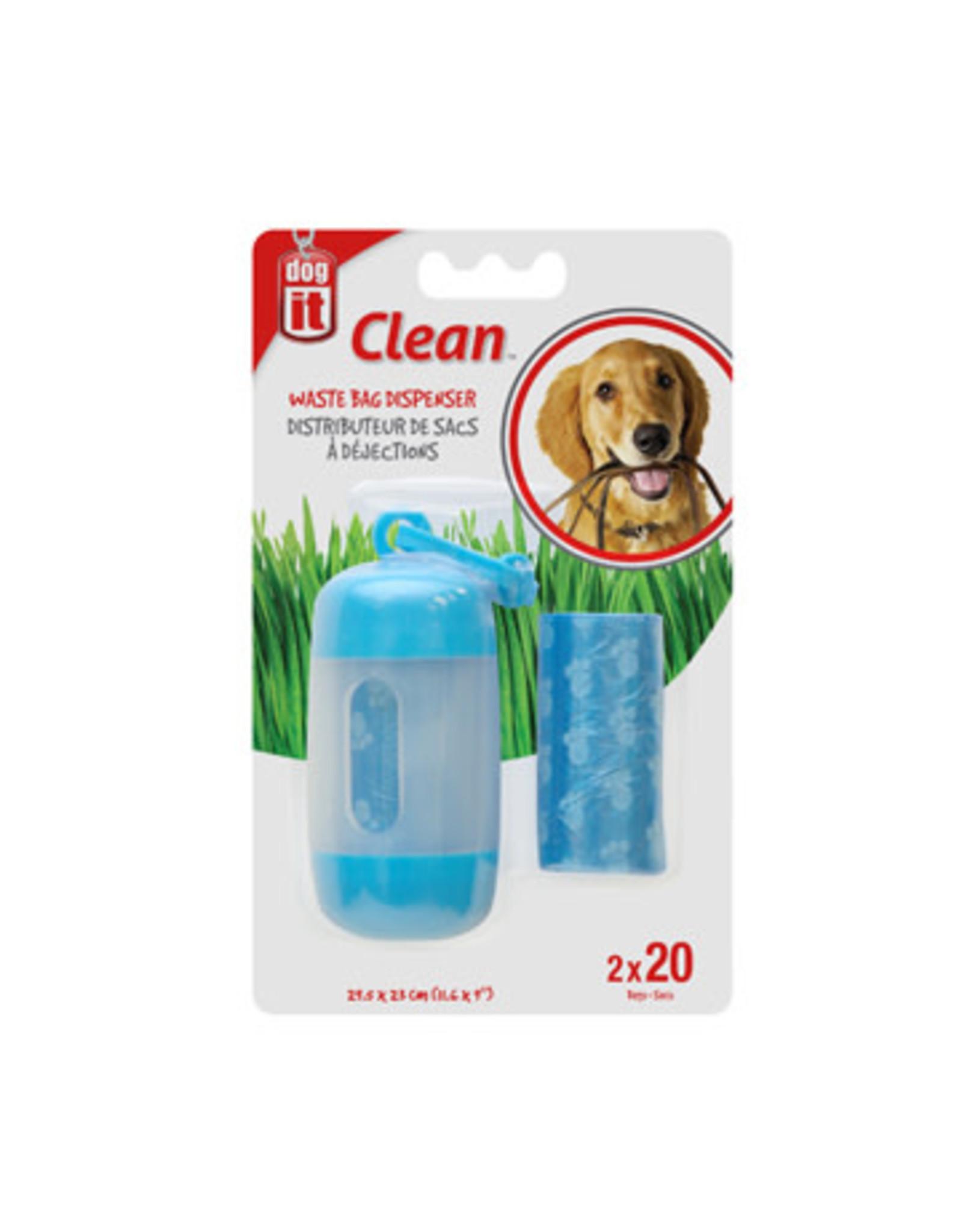 DogIt Bag Dispenser Blue 2 Rolls/20 Bags