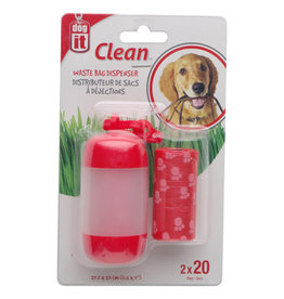 DogIt Bag Dispenser Red 2 Rolls/20 Bags