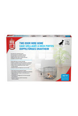 """DogIt Two Door Wire Crates with Divider XSmall 46.5x31x37cm (18.2x12x14.5"""")"""