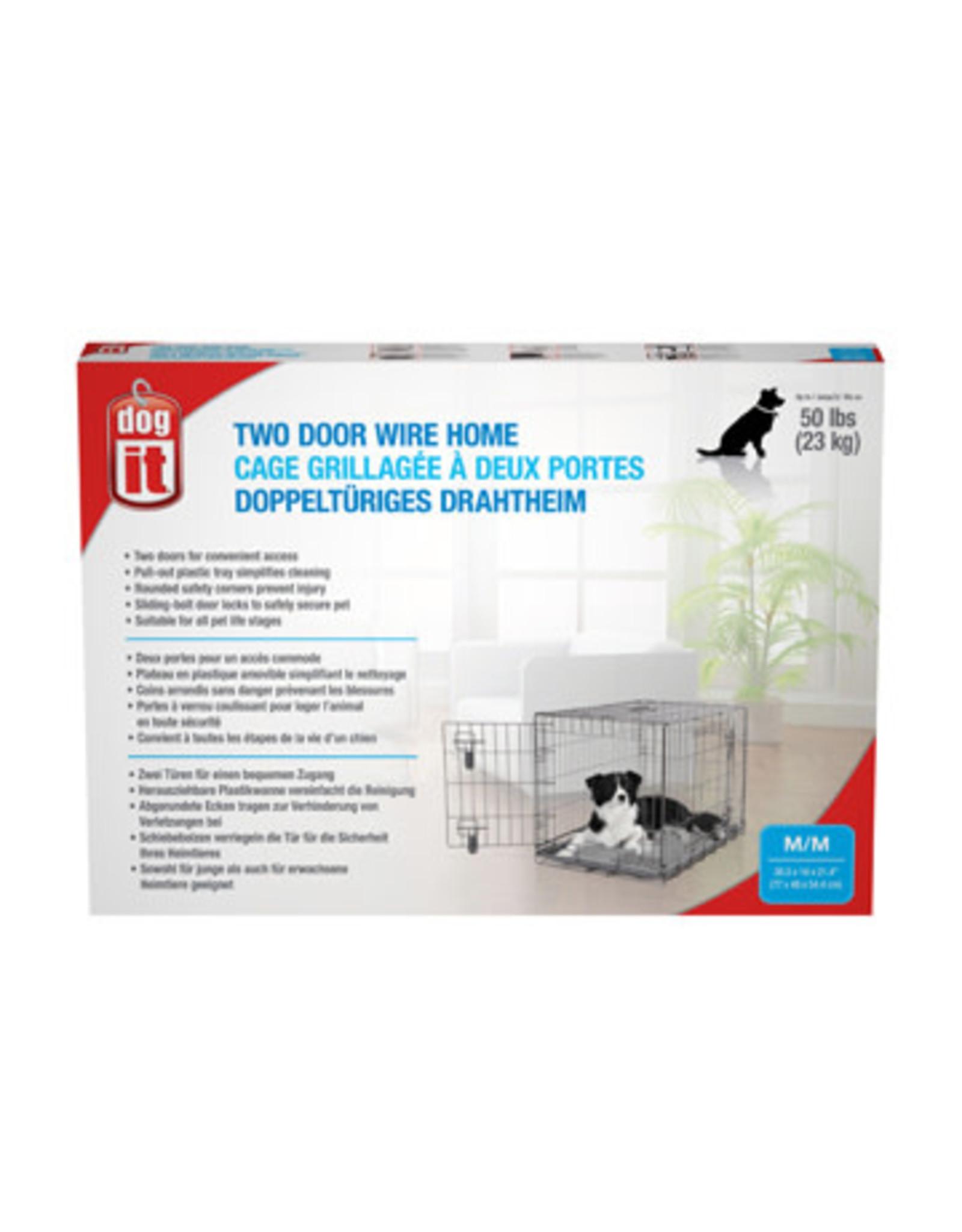 "DogIt Two Door Wire Crate Medium 77x48x54.5cm (30x19x21.5"")"
