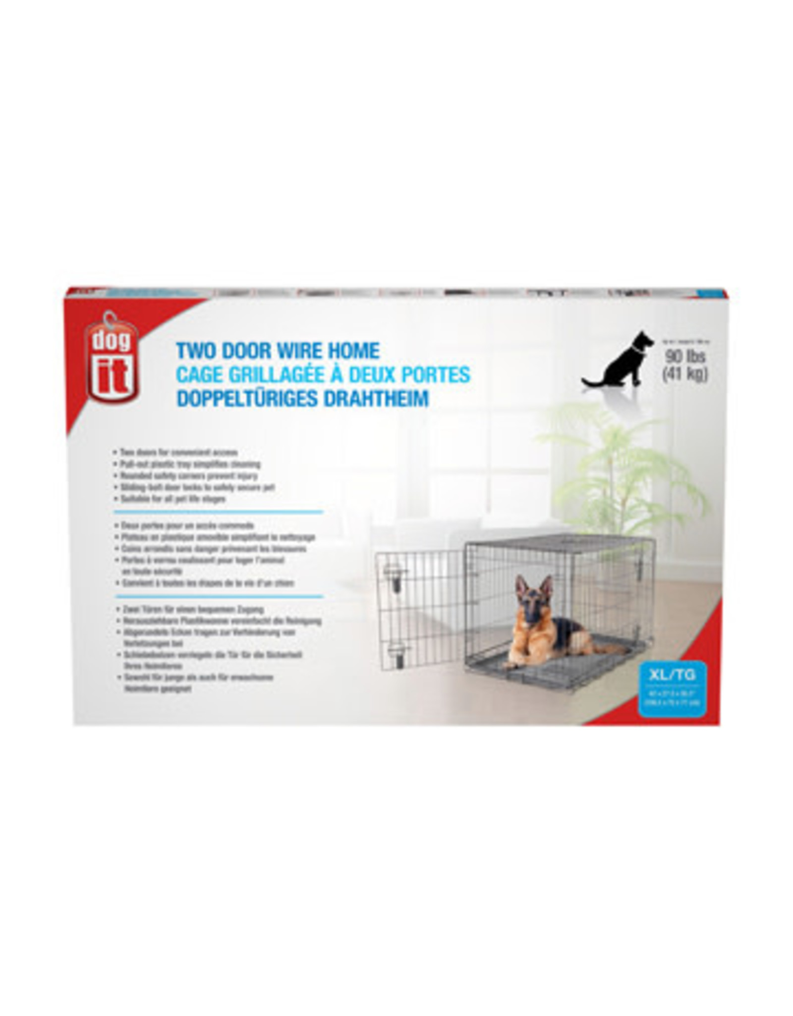 "DogIt Two Door Wire Crate X-Large 106.5x70x77cm (42x27.5x30"")"