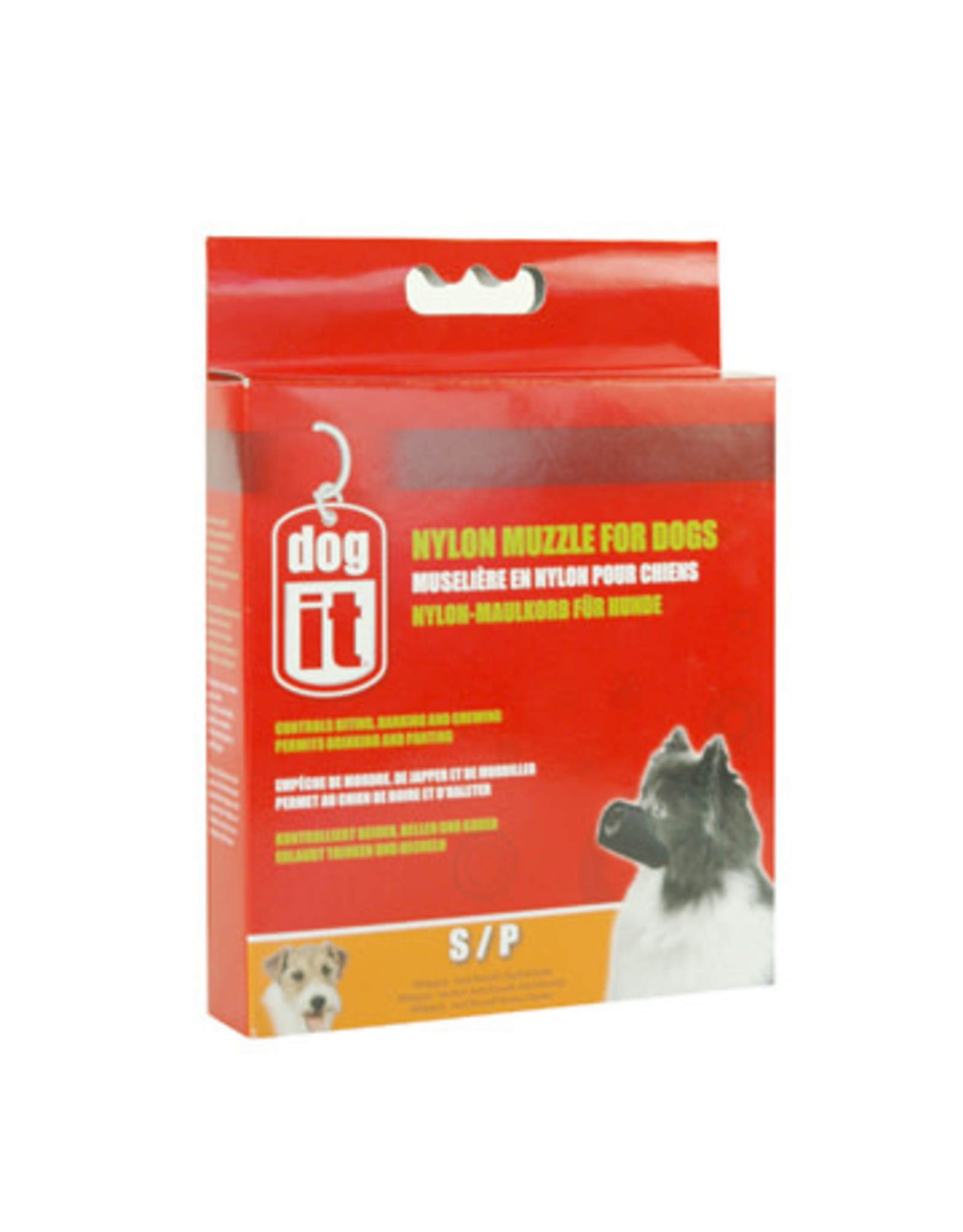 """DogIt Nylon Dog Muzzle Black Small (12cm/4.7"""")"""