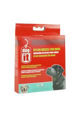 """DogIt Nylon Dog Muzzle Black Large (18.5cm/7.3"""")"""