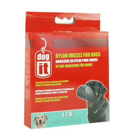 "DogIt Nylon Dog Muzzle Black Large (18.5cm/7.3"")"