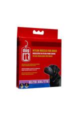 DogIt Nylon Dog Muzzle Black XX Large (30 cm)