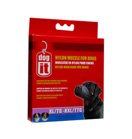 DogIt Nylon Dog Muzzle Black XX Large (30 cm)