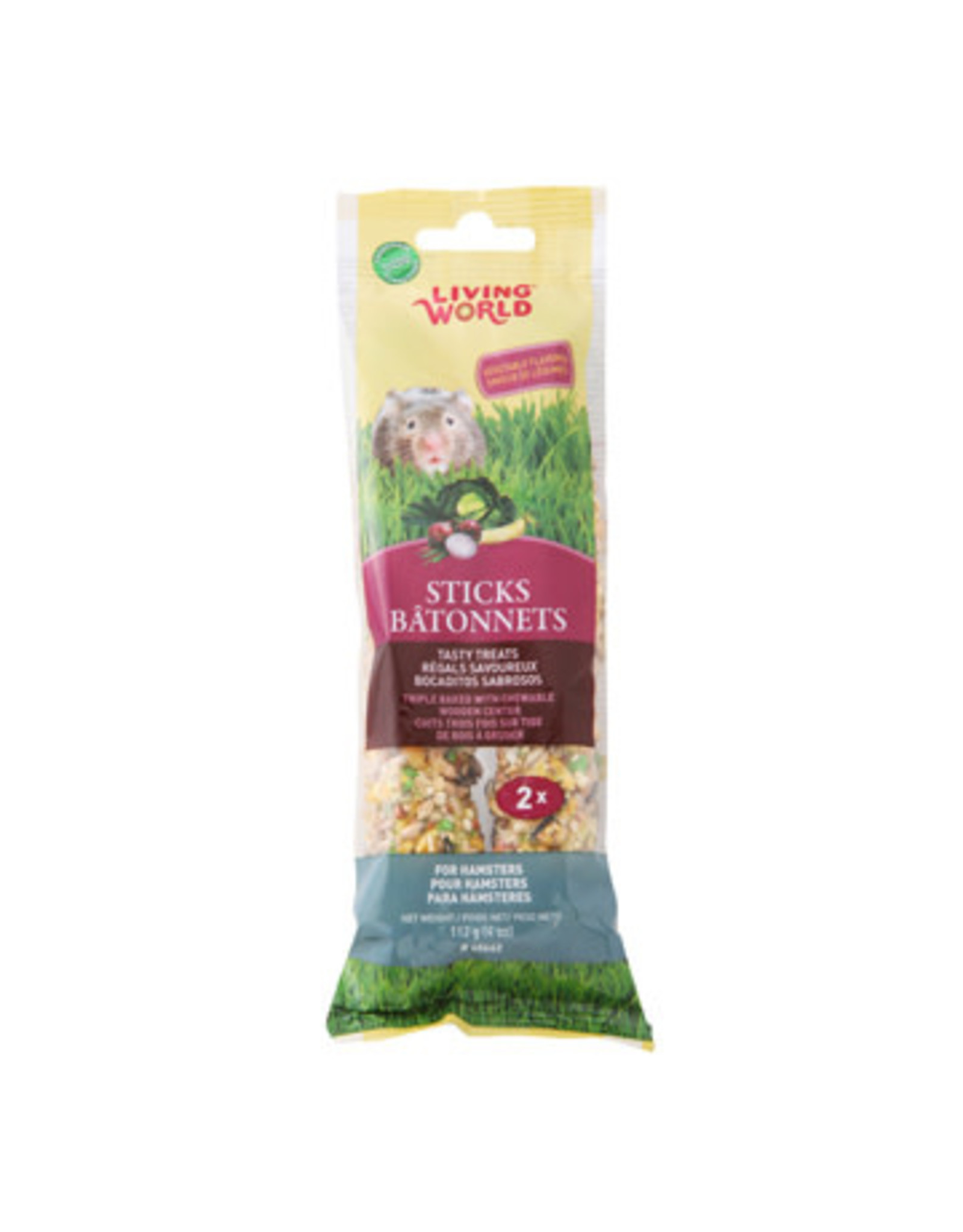 Living World Living World Hamster Sticks - Vegetable Flavour - 112 g (4 oz) - 2-pack