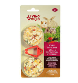 Living World Living World Wheel Delights - Carrot/Tomato/Herb - 2-pack