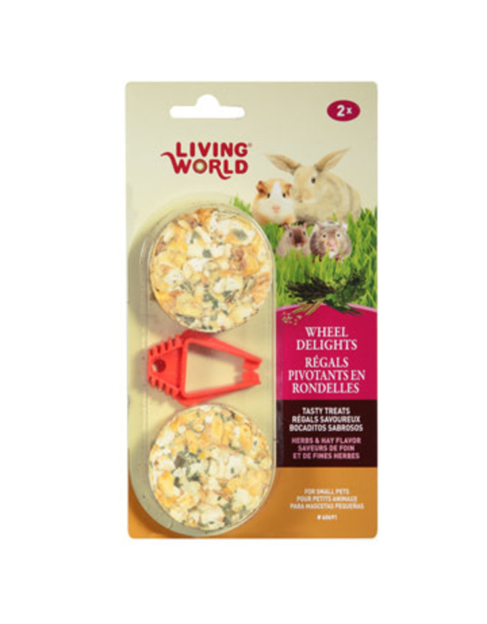 Living World Living World Wheel Delights - Herb/Hay - 2-pack