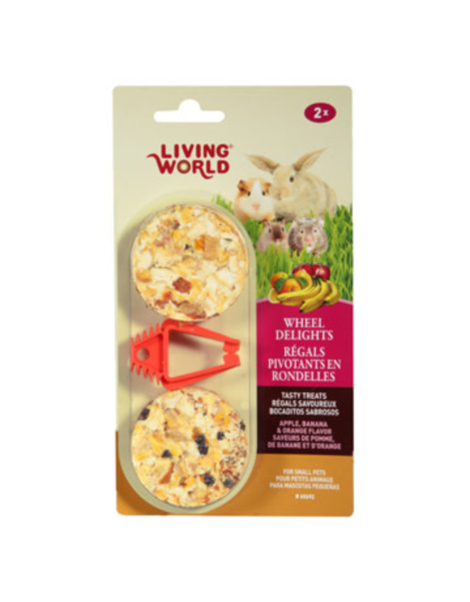 Living World Living World Wheel Delights - Apple/Banana/Orange - 2-pack
