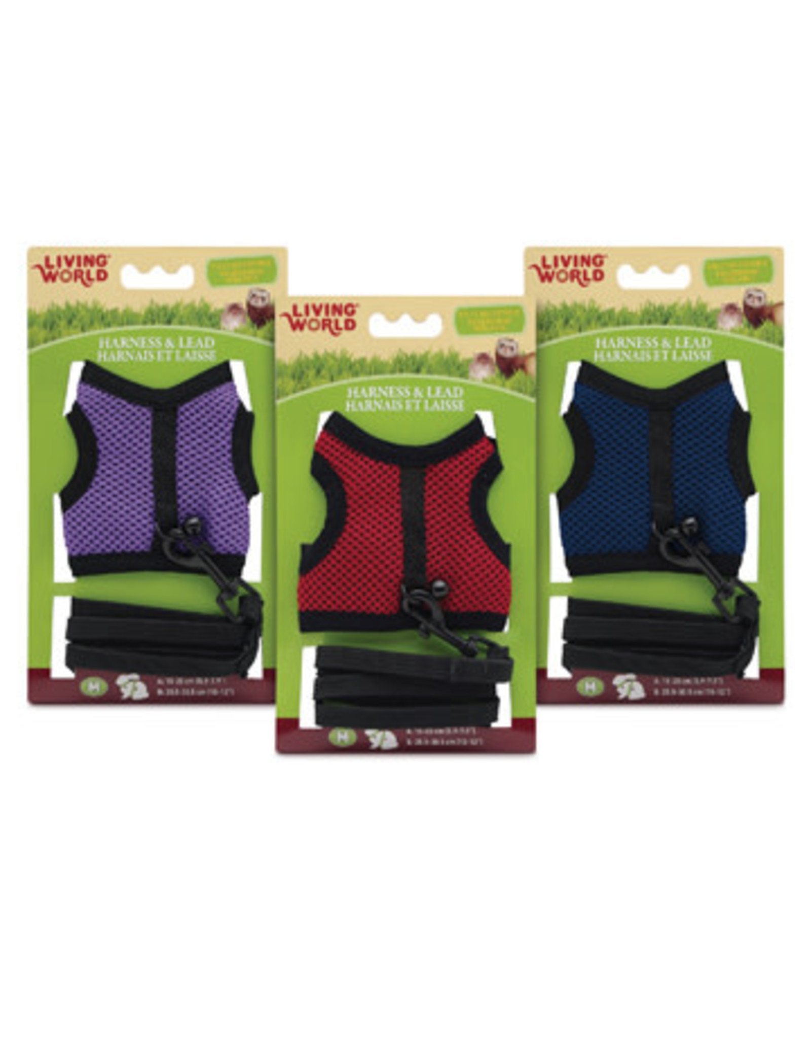 Living World Medium Harness and Lead Set - Assorted Colors - Medium