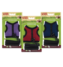 Living World Medium Harness and Lead Set - Assorted Colors - Medium
