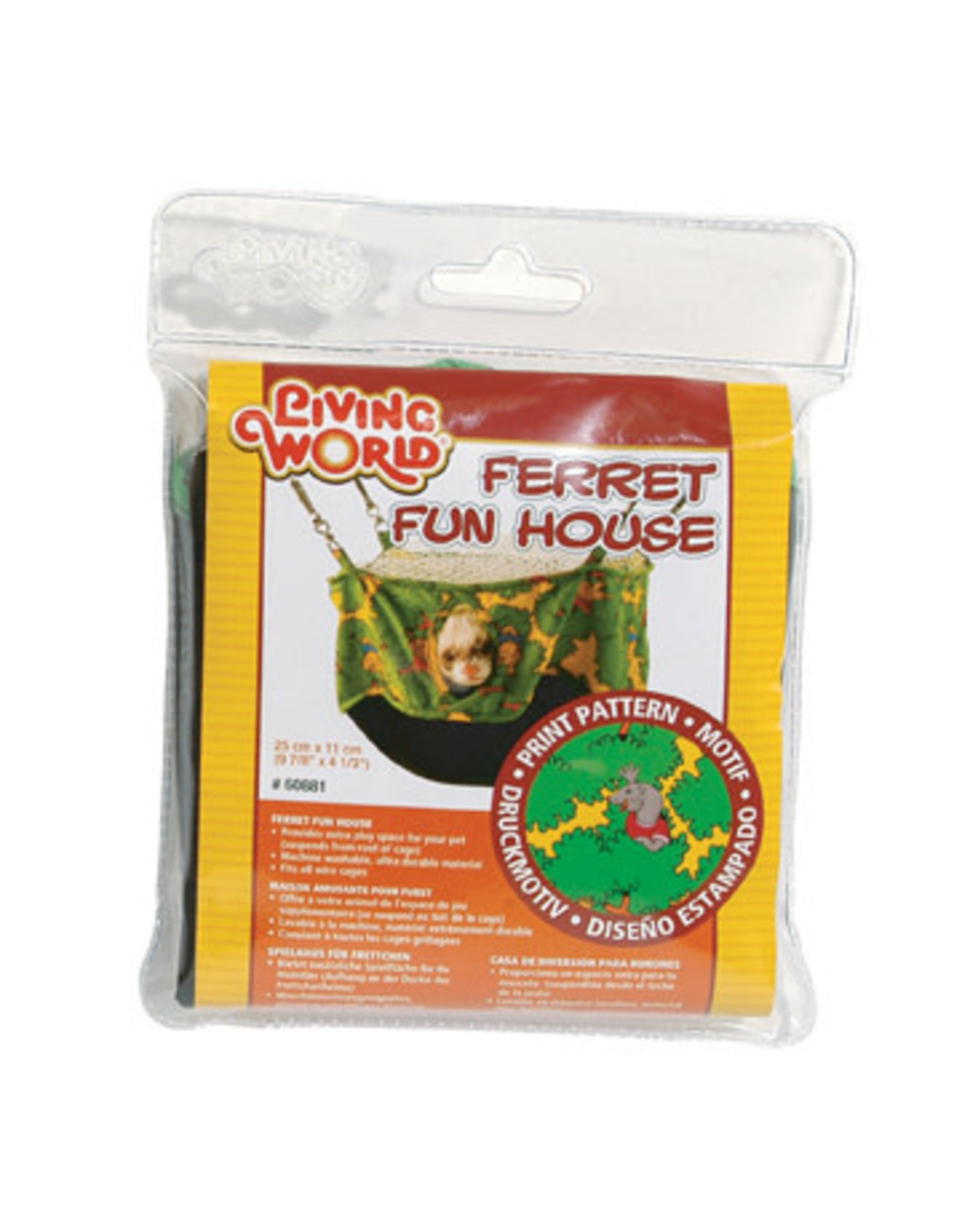Living World Ferret Fun House - Green - 25 cm (10 in)