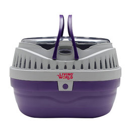Living World Carrier for Small Pets - Small - Grey/Purple