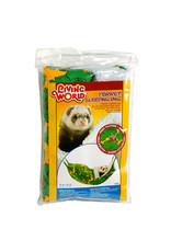 Living World Ferret Sleeping Bag - Green - 29 x 44 cm (12 x 17.5 in)