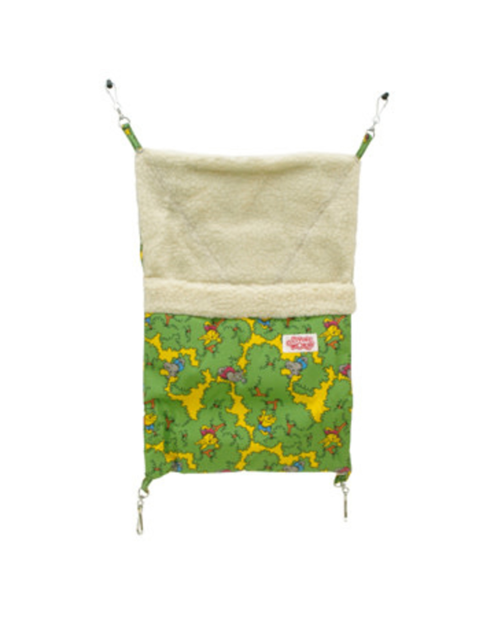 Living World Ferret Sleeping Bag - Green - 29 x 44 cm (12 x 17.5 in)