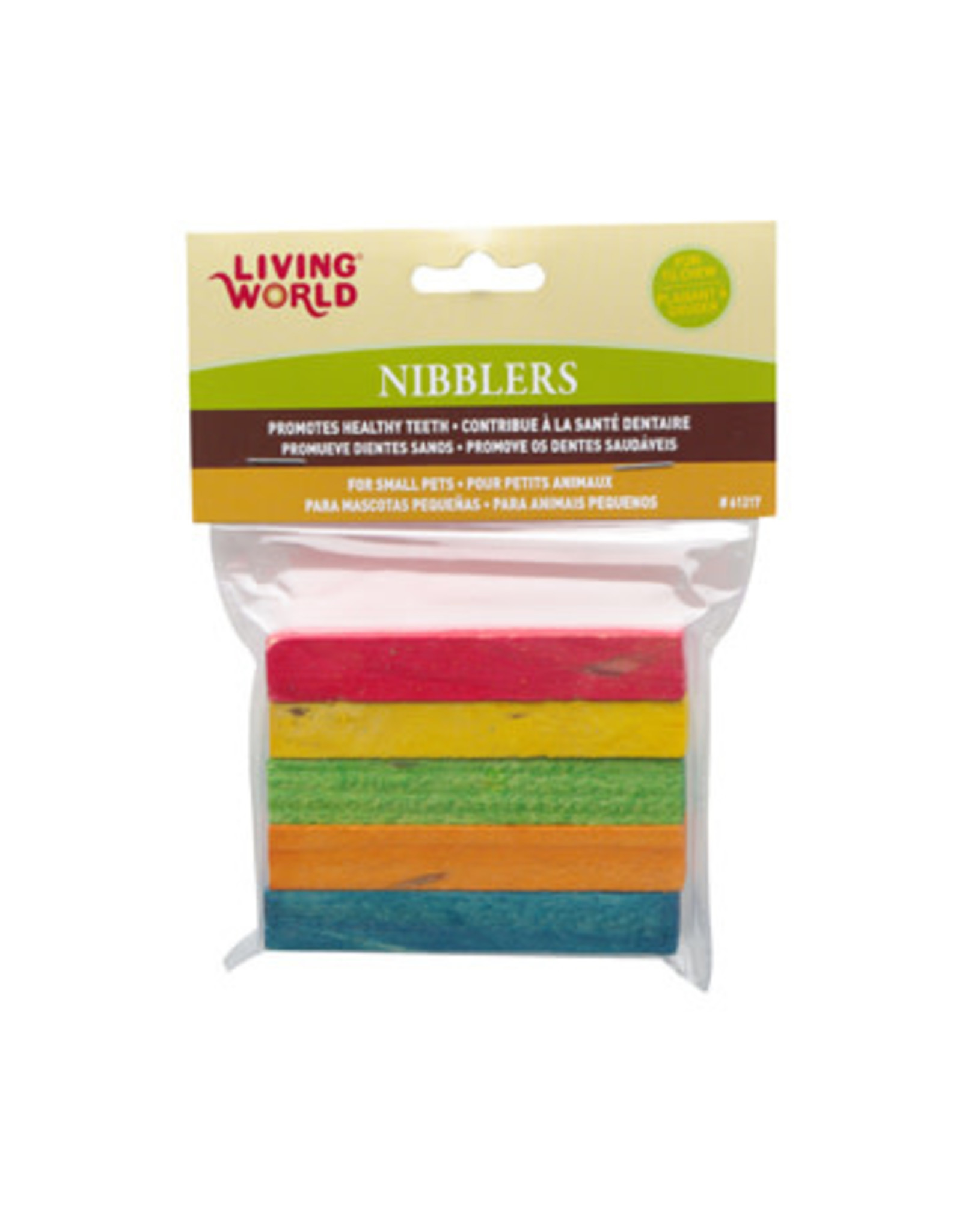 Living World Living World Nibblers Rainbow Wood Chews