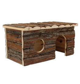 "Living World Tree House Real Wood Cabin - Large - 41 cm (16"") L x 24 cm (9.5"") W x 23 cm (9"") H"