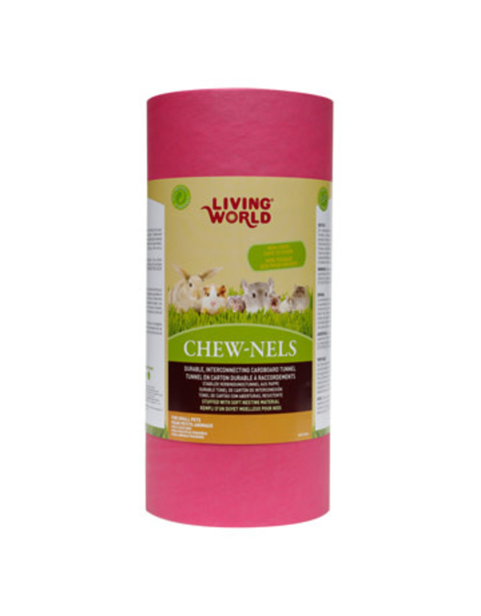 Living World Colourful Cardboard Chew-nels with Nesting material - Medium
