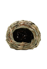 Living World Living World Hangout Grass Hut - Small - 14 x 14 x 11.4 cm (5.5 x 5.5 x 4.5 in)