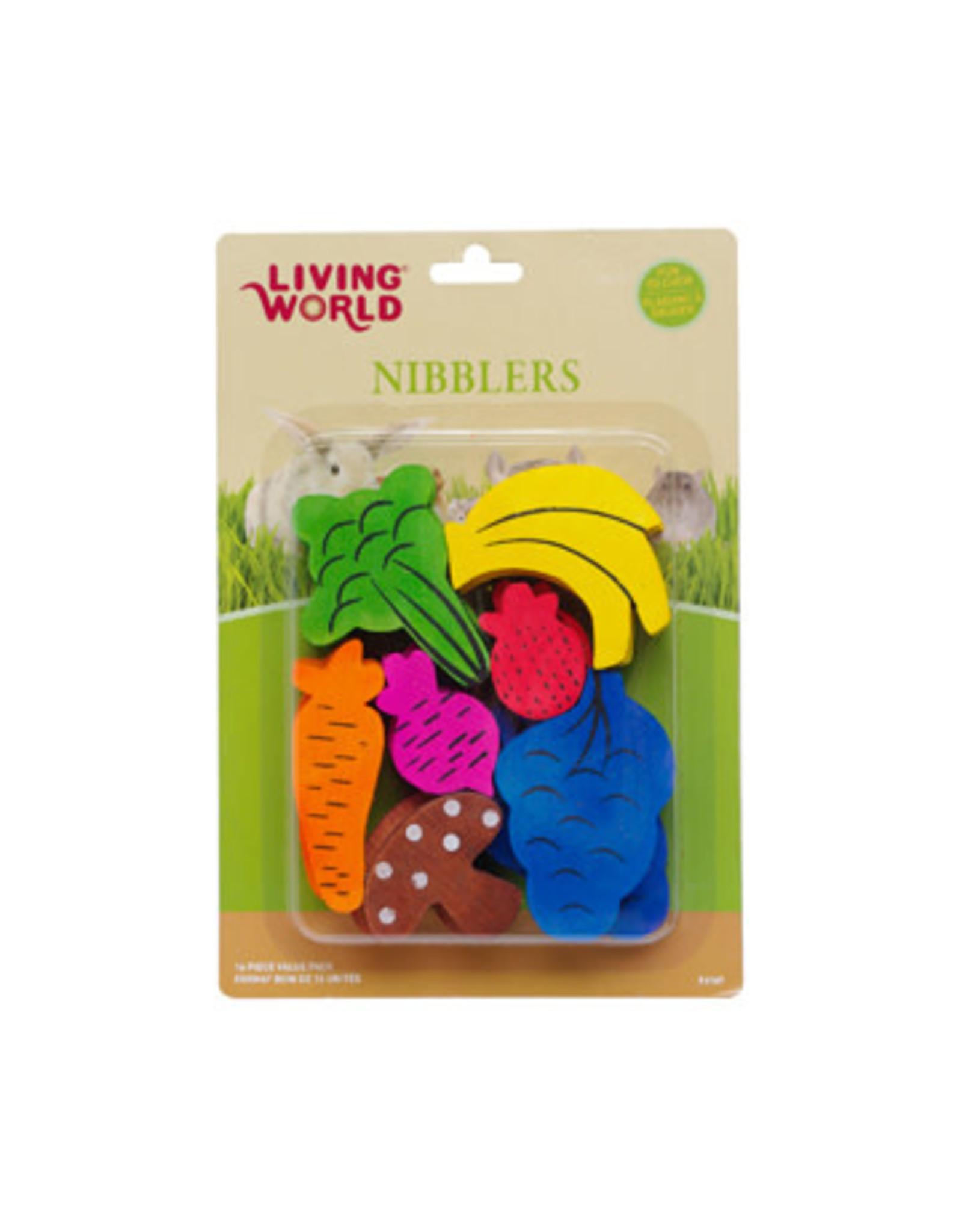 Living World Living World Nibblers Wood Chews - Fruit/Veggie Mix