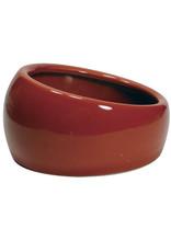 Living World Ergonomic Dish - Small - 120 mL (4.22 oz) - Terra Cotta/Ceramic