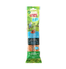 Living World Budgie Sticks - Honey Flavour - 60 g (2 oz), 2-pack