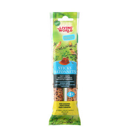 Living World Canary Sticks - Honey Flavour - 60 g (2 oz), 2-pack