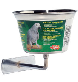 Living World Living World Stainless Steel Parrot Cup - Medium - 480 ml (16 oz)