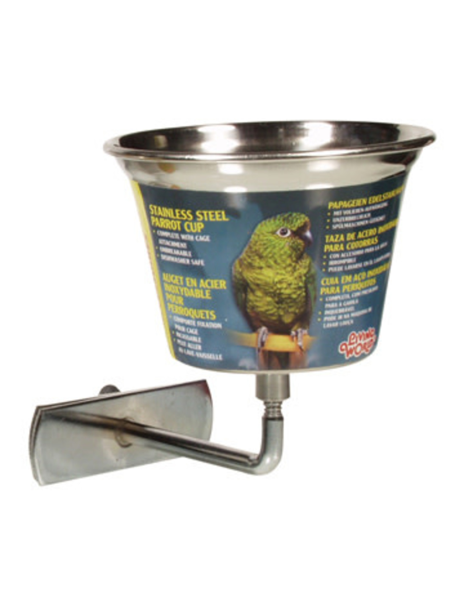 Living World Living World Stainless Steel Parrot Cup - Small - 360 ml (12 oz)