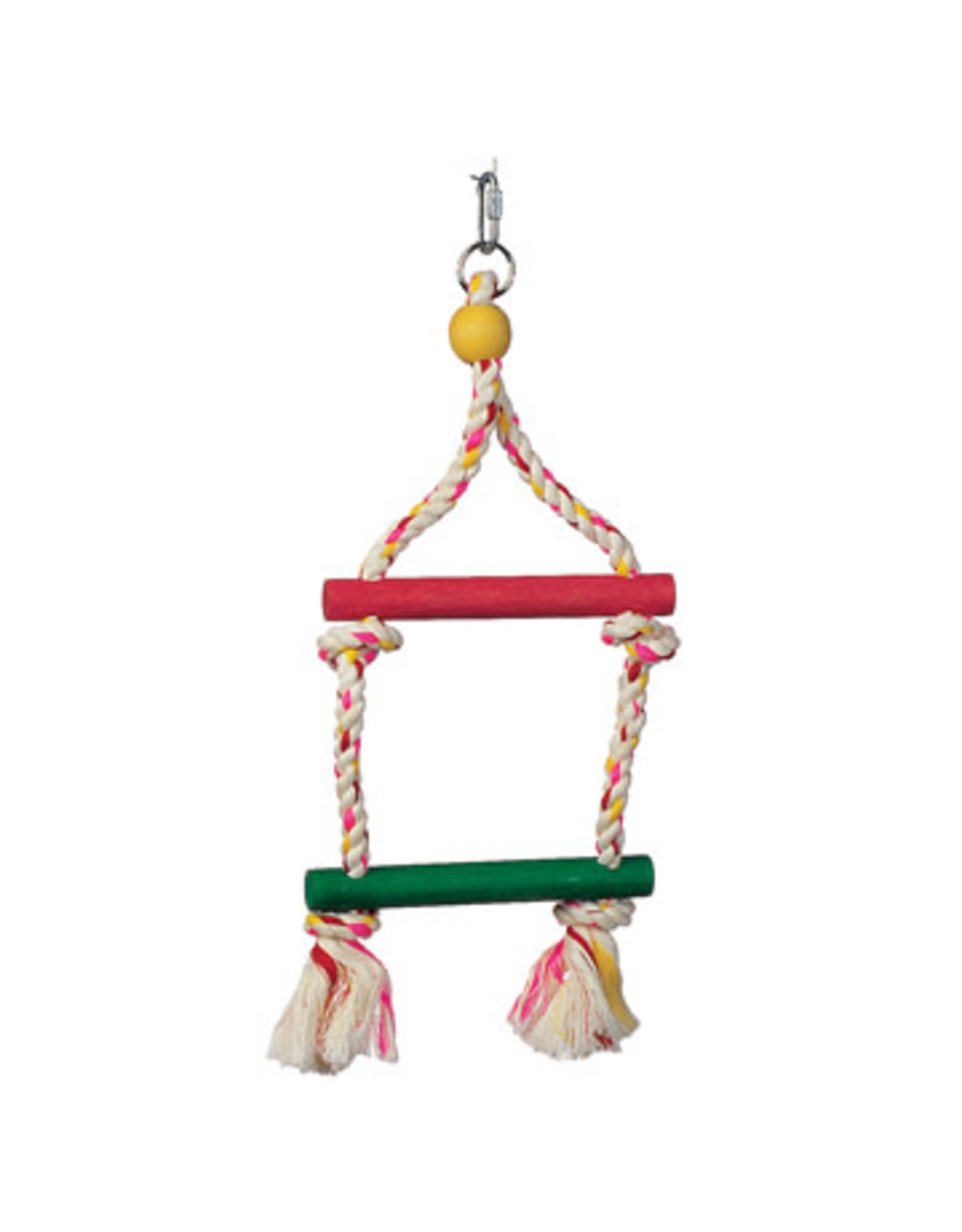 Living World Junglewood Bird Toy, 2-Step Rope Ladder, Small