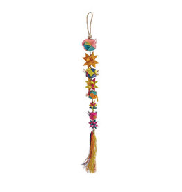 Living World Nature's Treasure Bird Toy Buri Stars with Tassel, For small hookbills