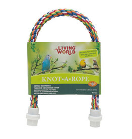 Living World Multi-Coloured Cotton Perch - 16 mm dia x 53 cm L