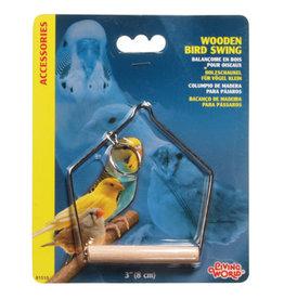 "Living World Living World Wooden Bird Swing - Small - 7.5 x 10 cm (3"" x 4"" in)"