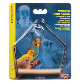 Living World Living World Wooden Bird Swing - Medium - 10 x 12.5 cm (4 x 5 in)