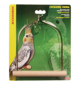 "Living World Bird Swing with Wooden Perch For Cockatiels - 14 x 17.5 cm (5.5"" x 7"" in)"