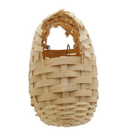 "Living World Bamboo Bird Nest for Finches - Small - 8 cm x 9 cm x 12 cm (3.1"" x 3.5"" x 4.7"" in)"