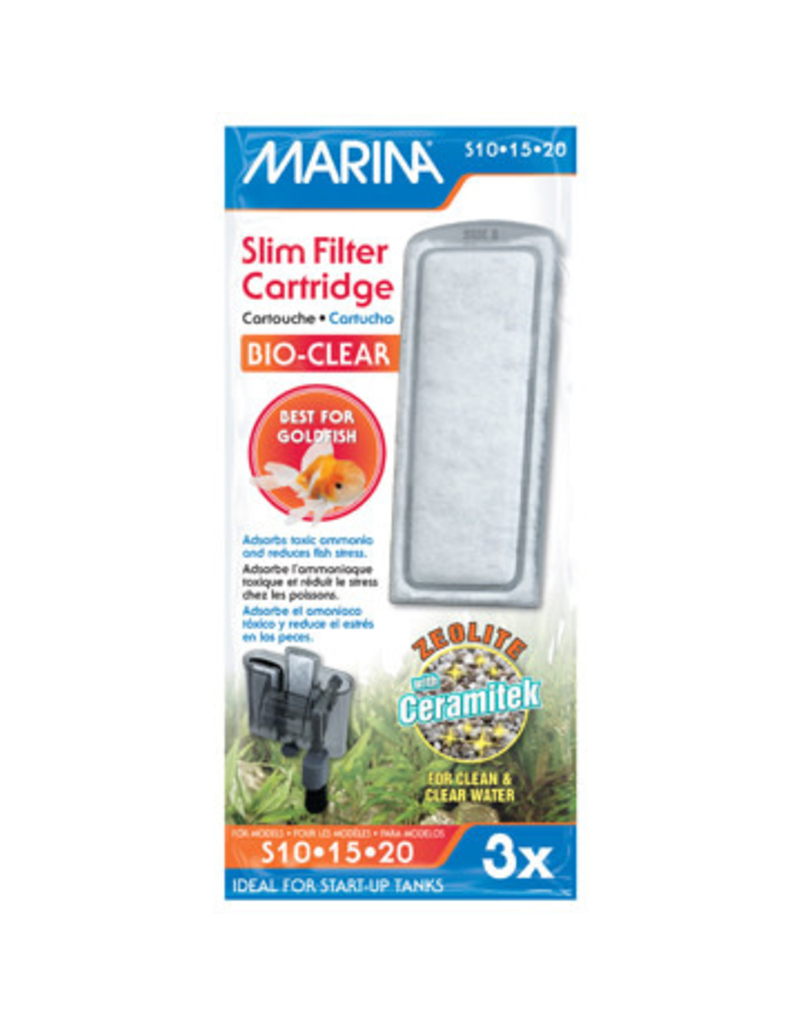 Marina Marina Bio Clear Cartridge for Slim Filters - 3 pack