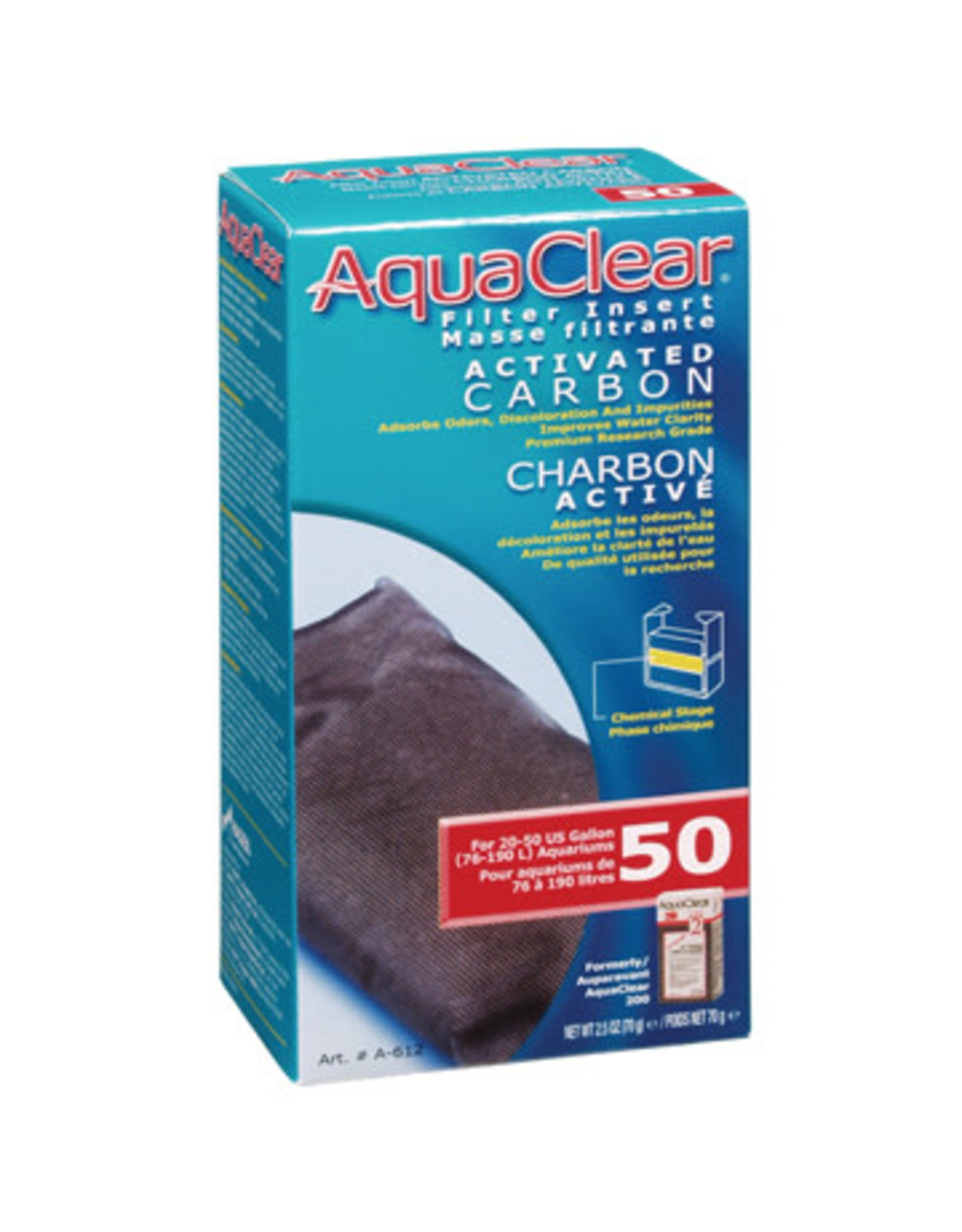 AquaClear AquaClear 50 Activated Carbon Filter Insert 70g