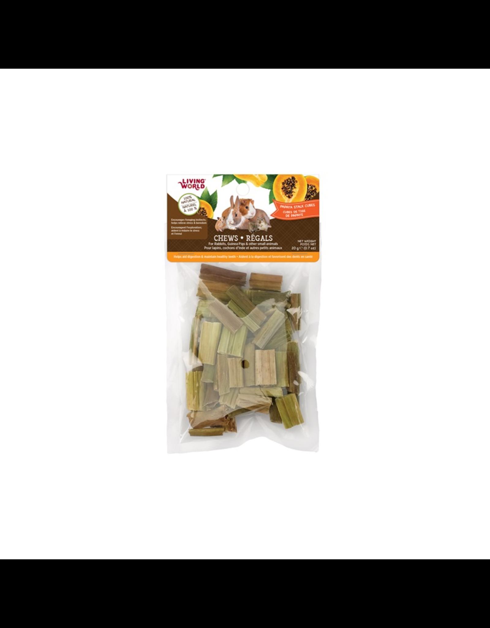 Living World Living World Small Animal Chews, Papaya Stalk Cubes, 20 g