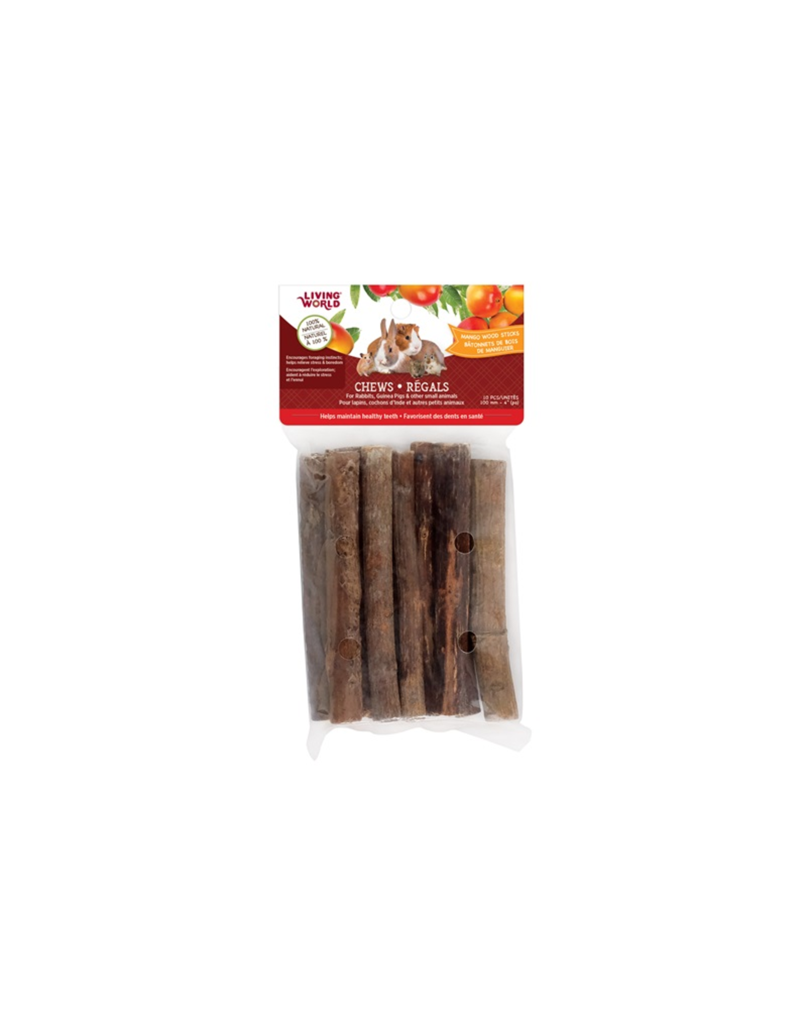 Living World Living World Small Animal Chews - Mango Wood Sticks - 10 pieces