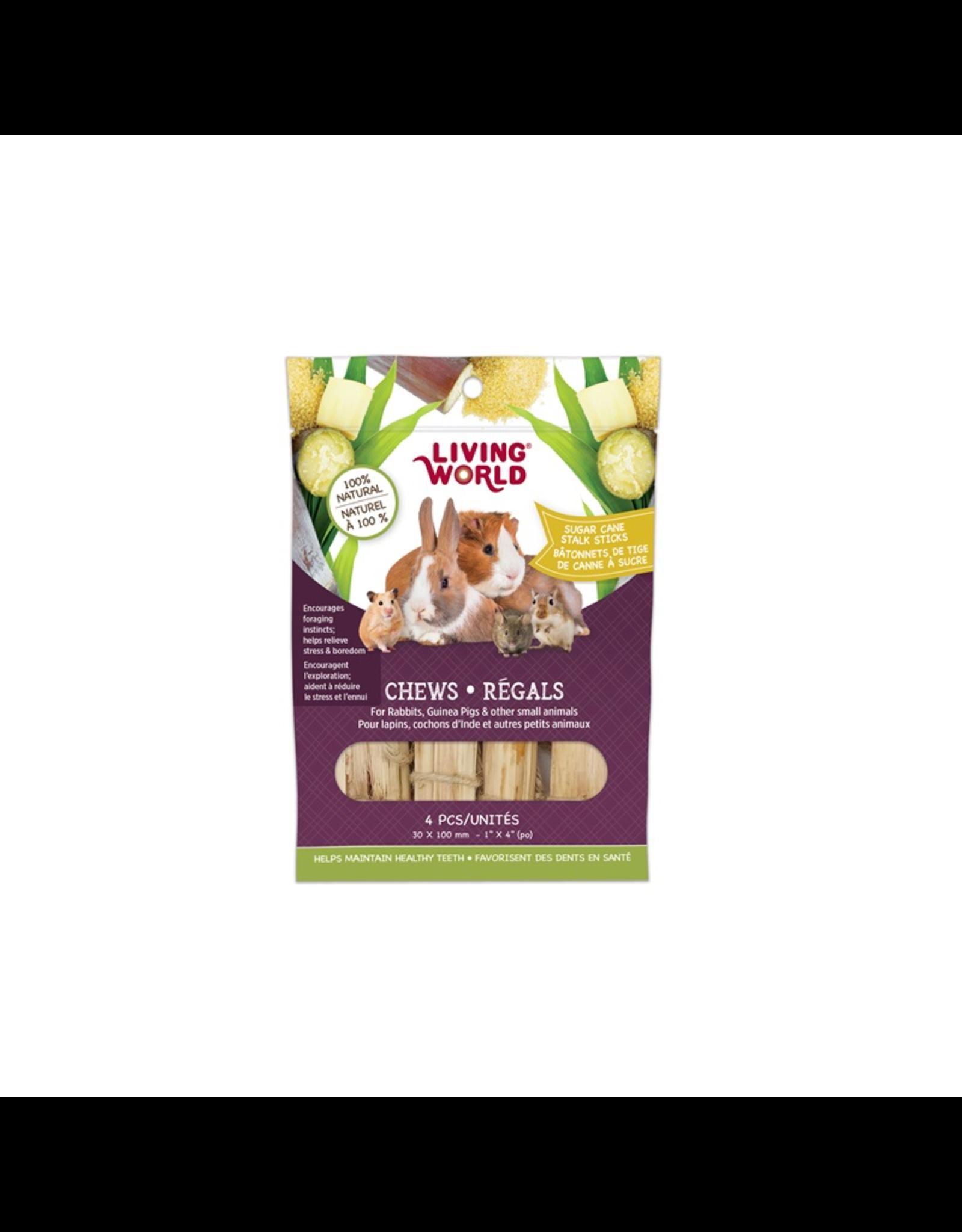 Living World Living World Small Animal Chews - Sugarcane Stalk Sticks - 4 pieces