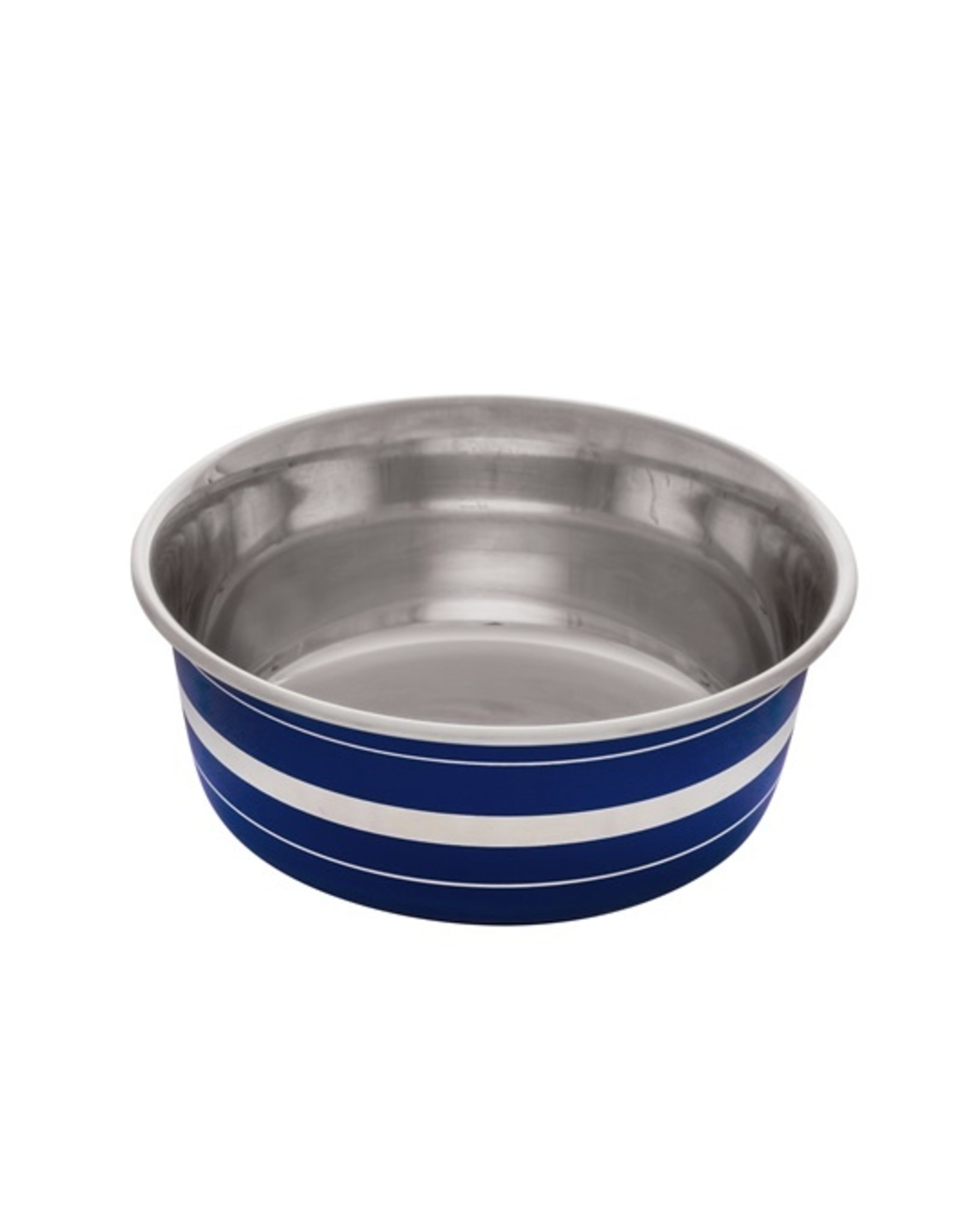 DogIt Stainless Steel Non-Skid Bowl Blue Stripe 350ml