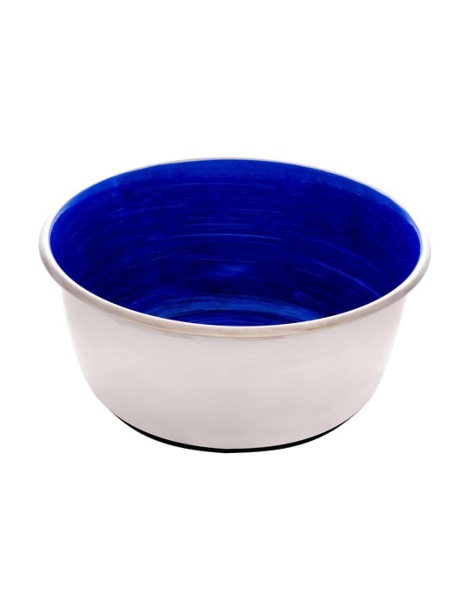 DogIt Stainless Steel Non-Skid Bowl Blue Swirl 500ml