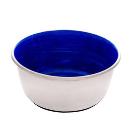 DogIt Stainless Steel Non-Skid Bowl Blue Swirl 500ml